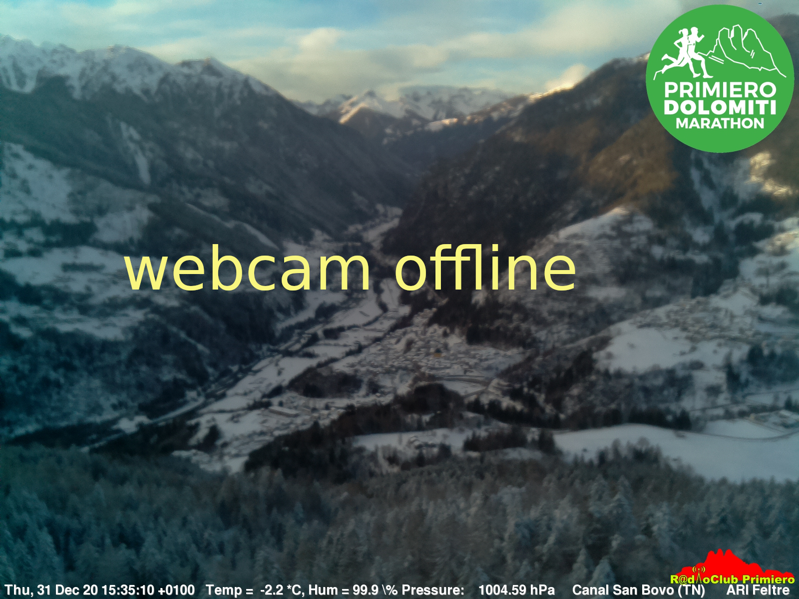 Canal San Bovo webcam