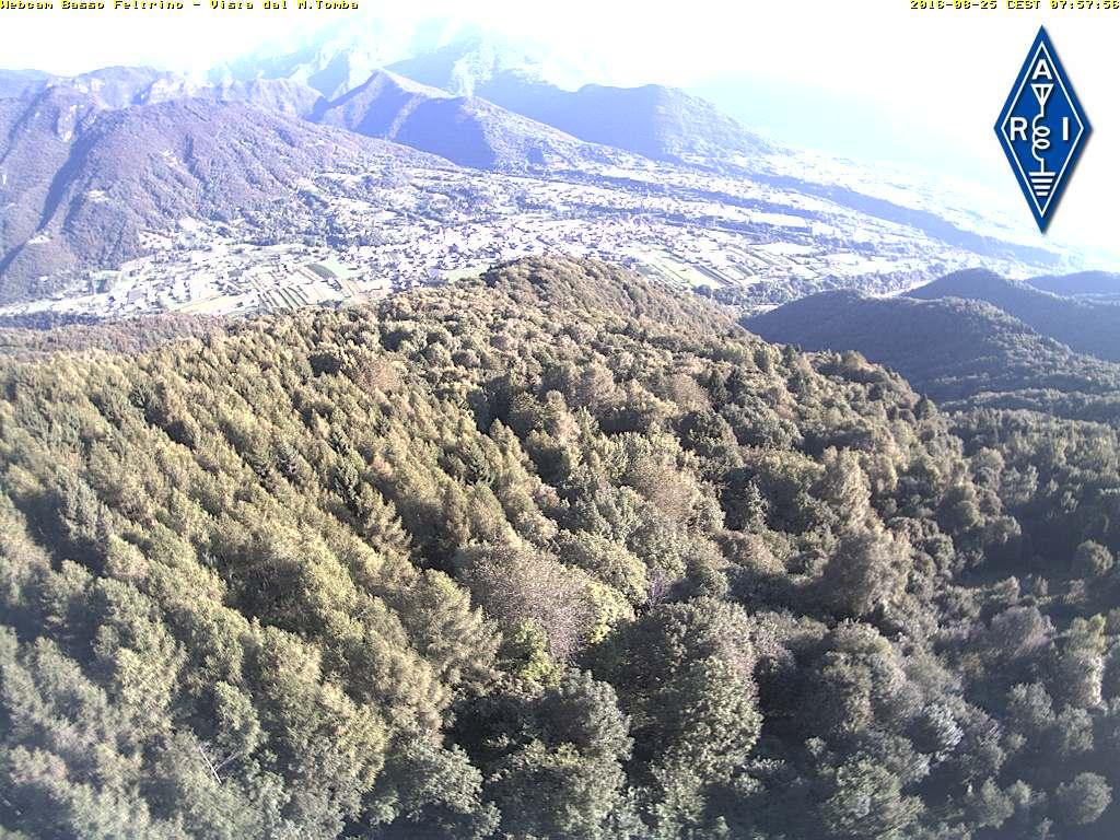 Monte Tomba webcam - vista sul basso feltrino